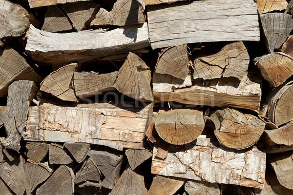 Tűzifa csoport vág textúra fa építkezés Stock fotó © pedrosala