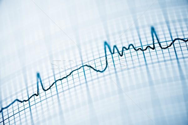 Eletrocardiograma papel forma médico coração Foto stock © pedrosala