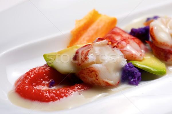 омаров соус овощей белый пластина продовольствие Сток-фото © pedrosala
