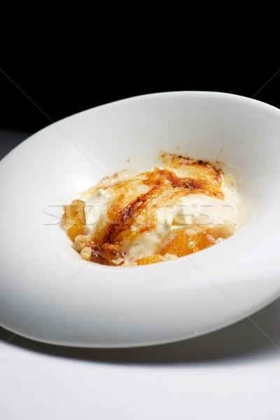 Vainilla helado crema batida caramelo alimentos Foto stock © pedrosala