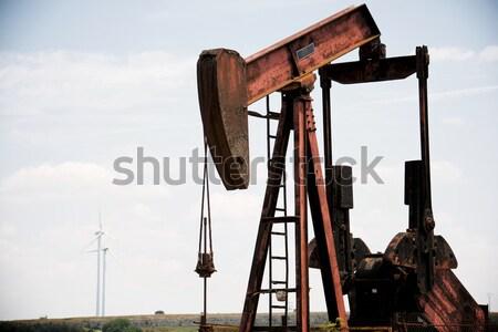 Oliebron la hemel werk industrie energie Stockfoto © pedrosala