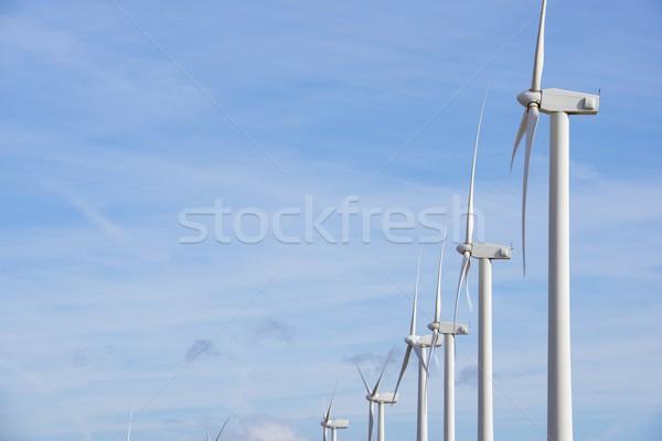 Vent énergie renouvelable électriques production technologie Photo stock © pedrosala