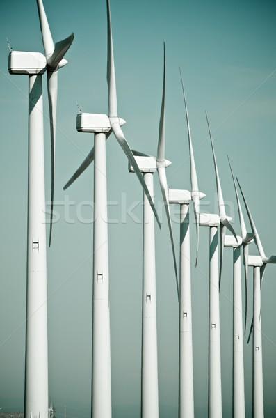 Stock photo: wind turbines