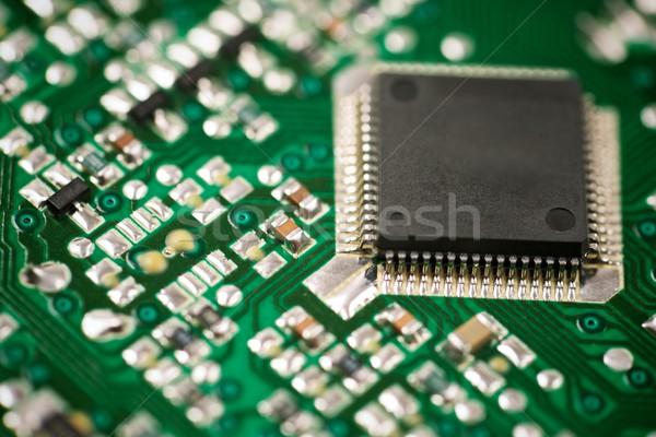 Geïntegreerd circuit chip achtergrond wetenschap Stockfoto © pedrosala