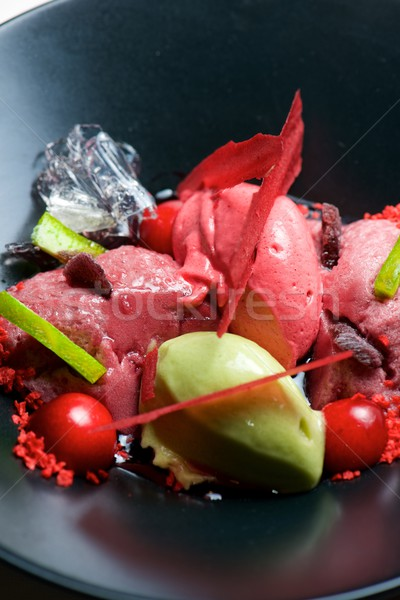 Strawberry and pistachio ice cream Stock photo © pedrosala
