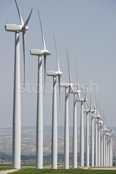 Vento energia elétrico poder produção natureza Foto stock © pedrosala