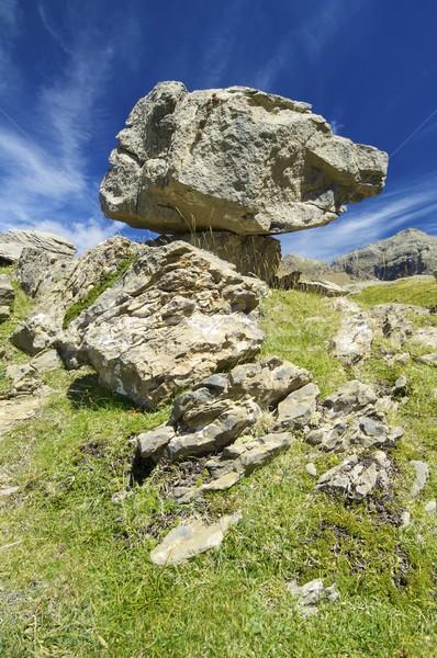 バランス 岩 ip 谷 自然 山 ストックフォト © pedrosala