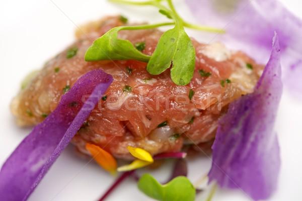 Stock photo: Pork steak tartar