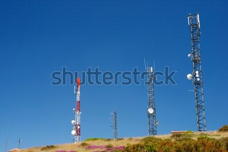 Telecommunications towers Stock photo © pedrosala