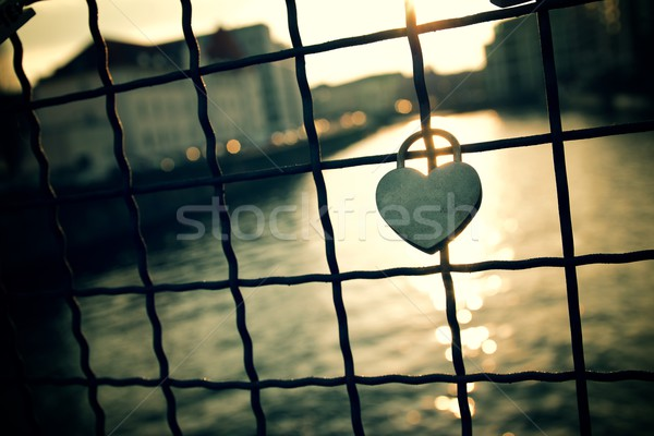 Love padlock view Stock photo © pedrosala