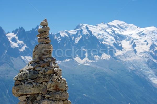 Alpok konzerv csúcs sport hó kék Stock fotó © pedrosala