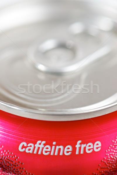 Koffein szabad közelkép konzerv üdítő víz Stock fotó © pedrosala