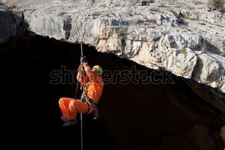 Spanyolország felemelkedik kötél férfi természet kő Stock fotó © pedrosala