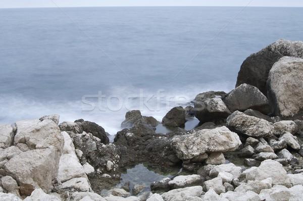 Wellen Felsen Wasser Ufer Valencia Spanien Stock foto © pedrosala