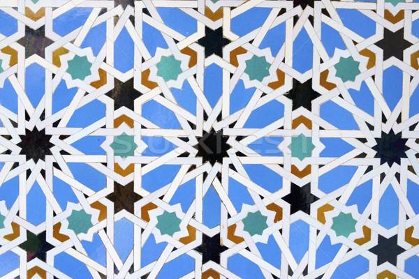 Kerámia közelkép csempe Andalúzia Spanyolország textúra Stock fotó © pedrosala