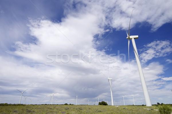 Elektrik üretim manzara melankoli gökyüzü teknoloji Stok fotoğraf © pedrosala