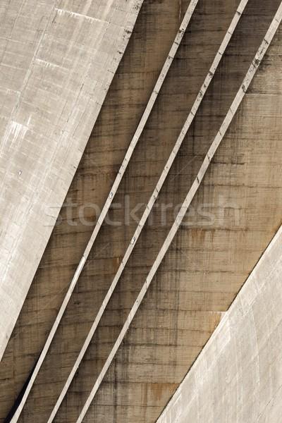 Hernieuwbare energie elektriciteit productie bouw muur meer Stockfoto © pedrosala