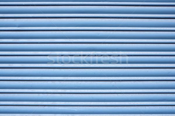 Metal obturador alto azul retro Foto stock © pedrosala