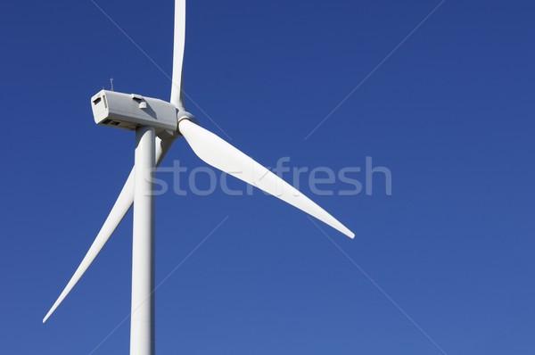Mulino a vento dettaglio moderno giorno cielo verde Foto d'archivio © pedrosala