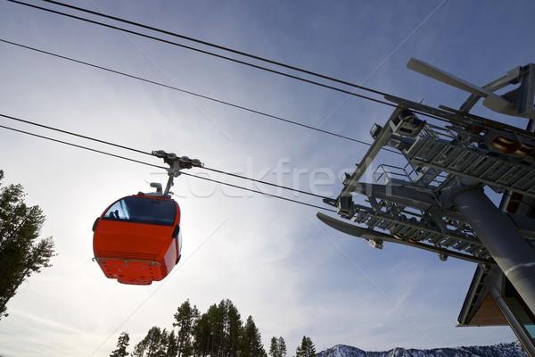 Gondel lift kabel auto ski resort Stockfoto © pedrosala