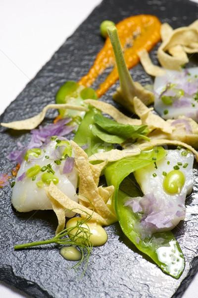 マリネ 務め 黒 食品 魚 キッチン ストックフォト © pedrosala
