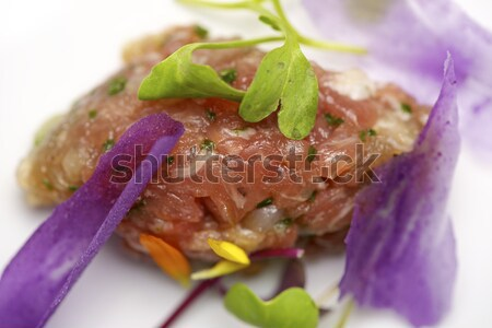 Pork steak tartar Stock photo © pedrosala