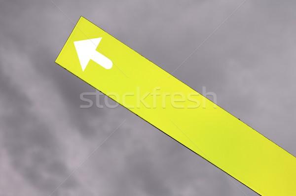 yellow arrow signal Stock photo © pedrosala