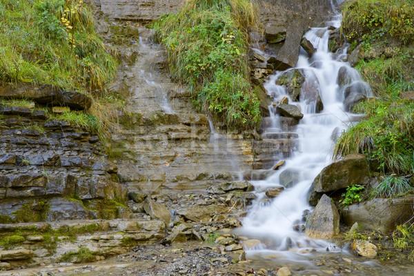 Waterfall in Pyrenees Stock photo © pedrosala