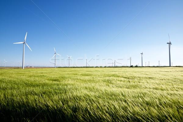 Vento energia elettrici potere produzione cielo Foto d'archivio © pedrosala