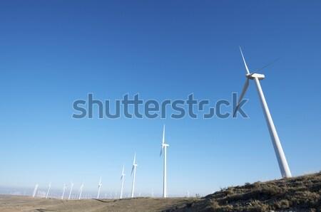 Foto d'archivio: Elettrici · produzione · cielo · sereno · panorama · tecnologia · campo
