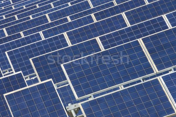 Fotovoltaikus részlet kék szín természet technológia Stock fotó © pedrosala