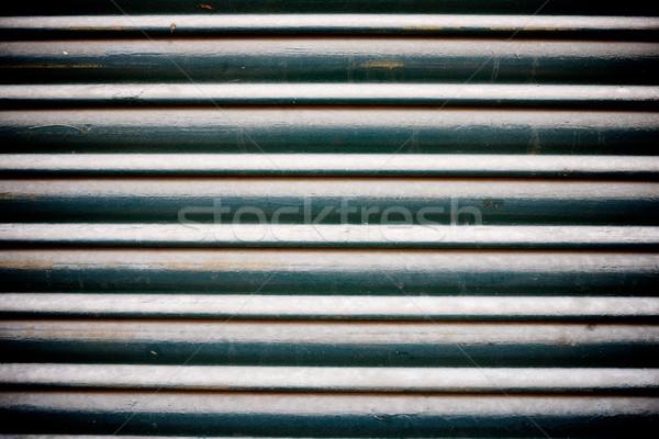 Fém redőny magas döntés kék retro Stock fotó © pedrosala