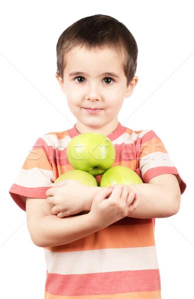 Küçük erkek elma yeşil Stok fotoğraf © pekour