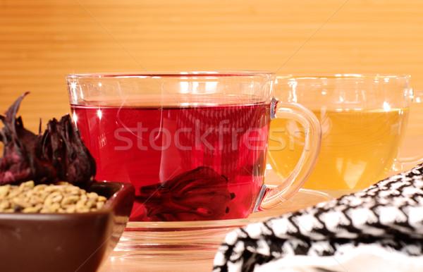 Tradicional egípcio chá flor saúde beber Foto stock © pekour