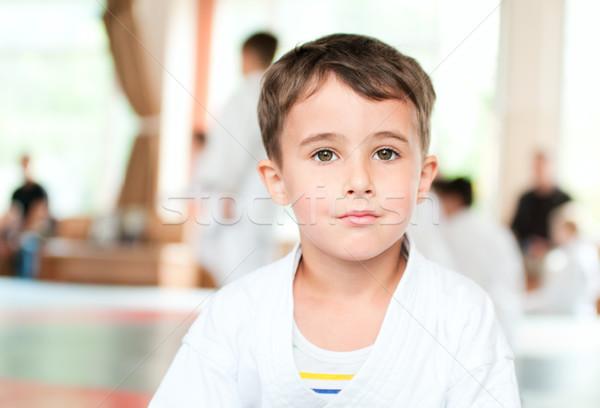 Stockfoto: Portret · karate · jongen · opleiding · sport · hal