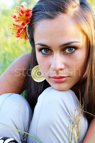 Kız zambak saç kadın moda Stok fotoğraf © pekour