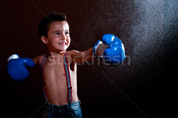 Little wet puncher makes lucky strike Stock photo © pekour