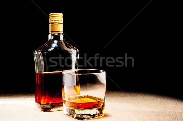 Verre whisky bouteille Photo stock © pekour