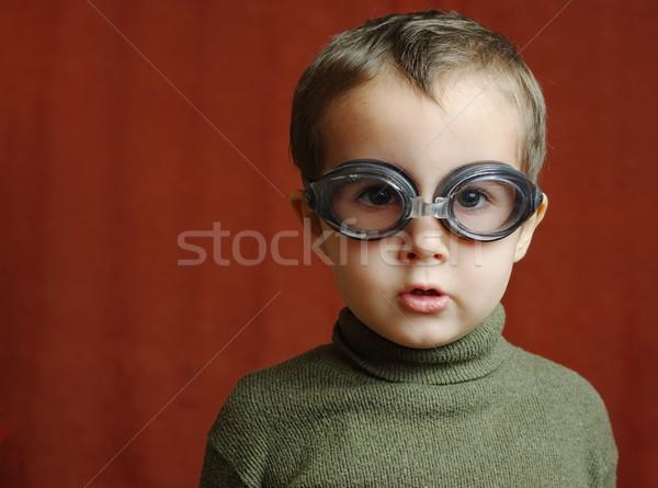 Photo stock: Faible · garçon · natation · verres · pilote