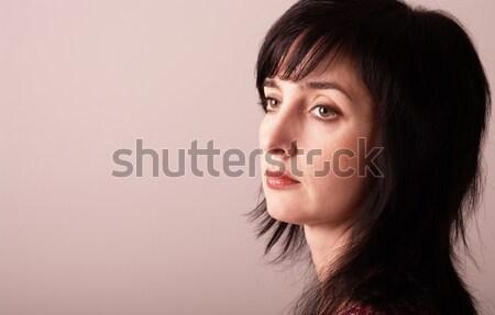 Portre güzel yetişkin kadın pembe Stok fotoğraf © pekour