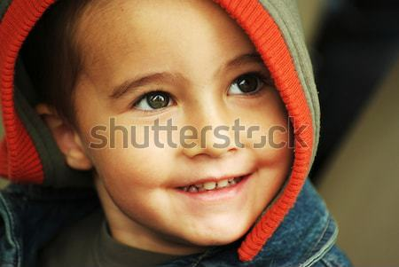 Happy boy in hood Stock photo © pekour