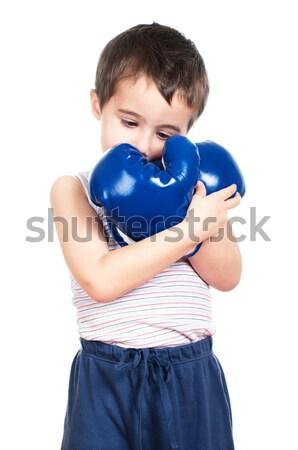 Sevmek boks küçük erkek tank üst Stok fotoğraf © pekour