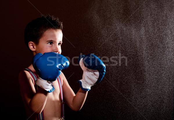 Küçük ışıklar erkek sıçrama boks Stok fotoğraf © pekour