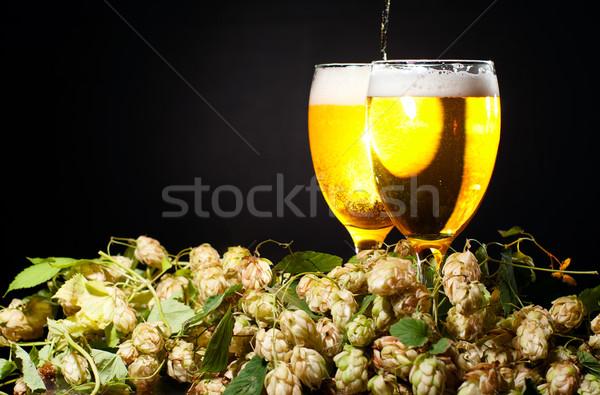 Iki gözlük bira atlama siyah Stok fotoğraf © pekour