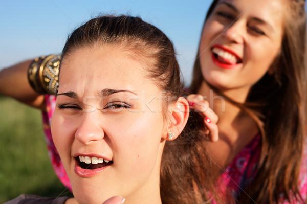 Stretto ragazza capelli estate ridere femminile Foto d'archivio © pekour