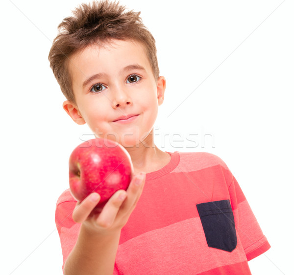 Little naughty boy outstretch the apple Stock photo © pekour