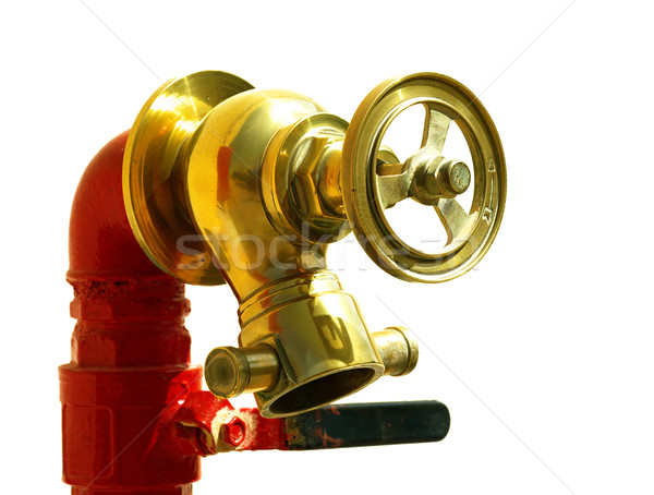 Fire hydrant with golden wheel  Stock photo © pekour