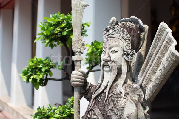 Anciens sculpture chinois guerrier bonsaï Voyage Photo stock © pekour