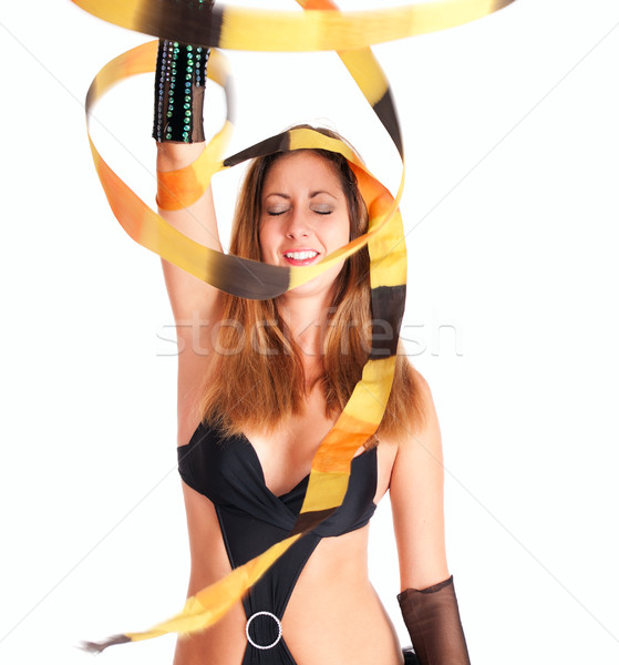 Dancer girl with the ribbon  Stock photo © pekour
