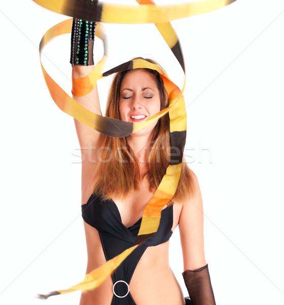 Dançarina menina fita dançar de volta fita Foto stock © pekour